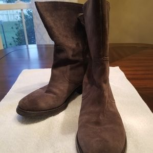 Nine West Suede Low Calf Boots